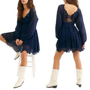 Free People Lottie Dress Crochet Mini Boho Summery